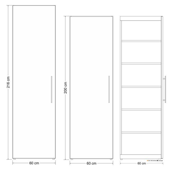 armoire métal H 2160 mm