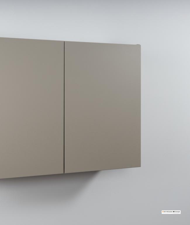 armoire suspendue métal sans poignée