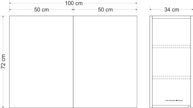 armoire suspendue métal HSCL classic 100