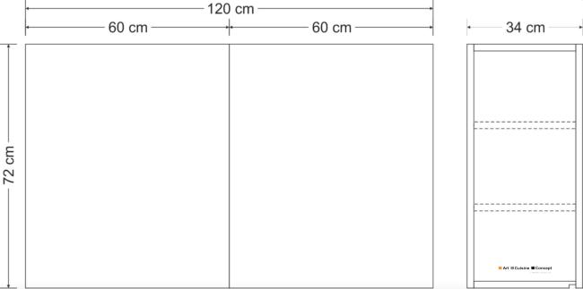 suspendu métal 120 cm