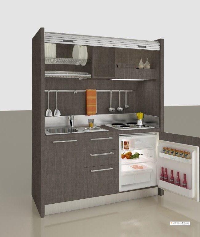 mini cuisine 158 cm VR chêne gris